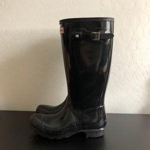 Hunter KIDS black rain Boot
